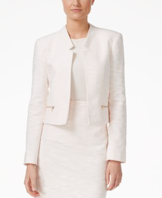 Calvin Klein Petite Notched-Collar Fly..