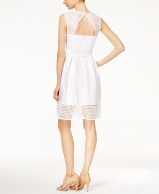 Calvin Klein Crochet Sleeveless Fit & ..