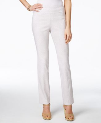 Charter Club Geo-Print Pull-On Pants