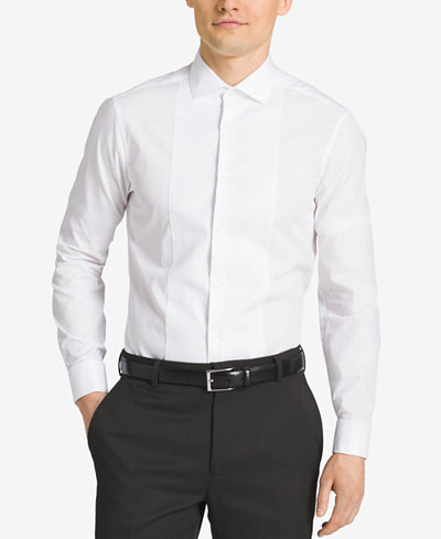 Calvin Klein Steel Men 39 S Slim Fit French Cuff Tuxedo Shirt