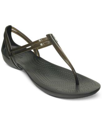 Crocs Womens Isabella T-Strap Flat San..