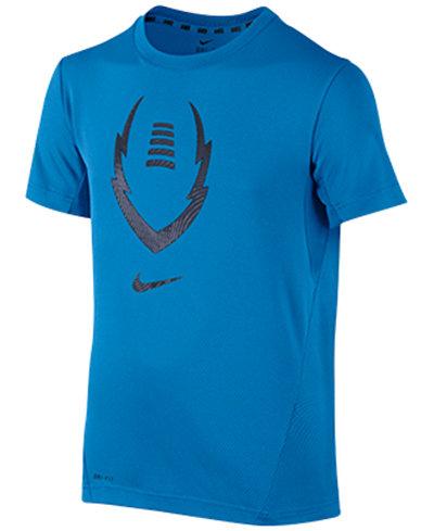 Nike Boys Football Graphic Print Dri Fit T Shirt Shirts