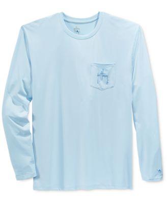 Guy Harvey Mens Graphic-Print Long-Sleeve Performance UV Protection T-Shirt