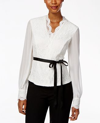 Macys Womens Long Sleeve Blouse 17