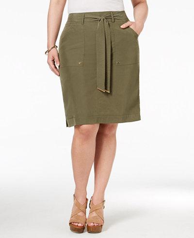 Plus Size Cargo Skirt 93