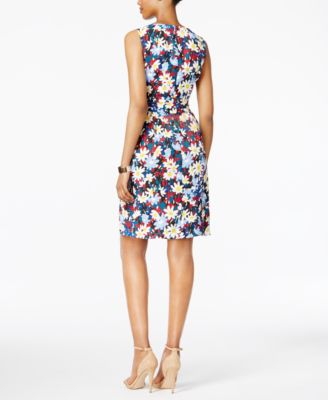 Anne Klein Floral-Print Sleeveless Fit..