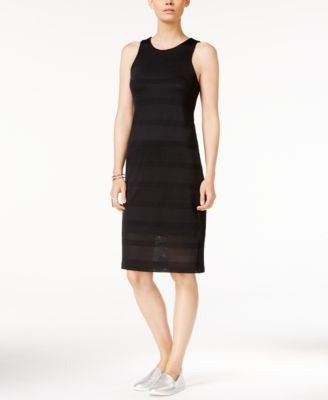 Armani Exchange Sleeveless Perforated Dress