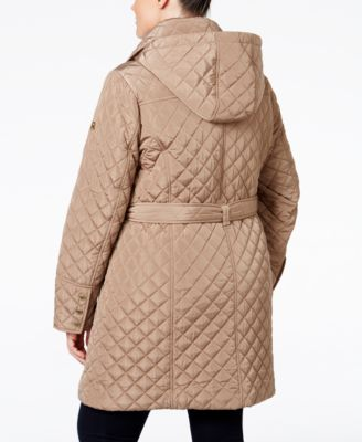 MICHAEL Michael Kors Plus Size Hooded Water-Resistant Quilted Jacket