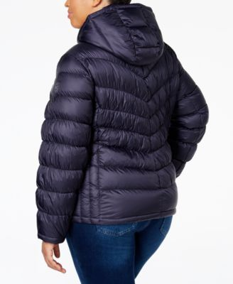 MICHAEL Michael Kors Plus Size Packable Down Hooded Puffer Coat