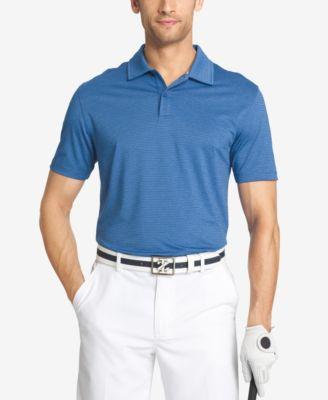IZOD Mens Striped Performance Golf Polo