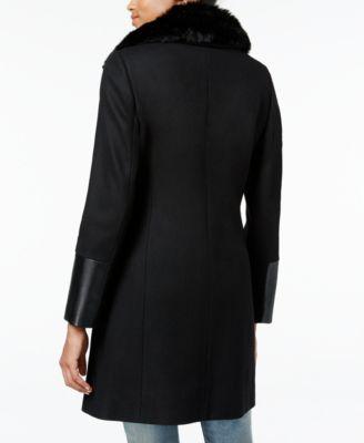 RACHEL Rachel Roy Mixed-Media Asymmetrical Walker Coat