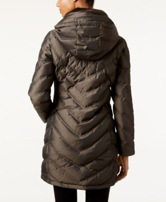 Calvin Klein Hooded Chevron Water Resistant Down Puffer Coat