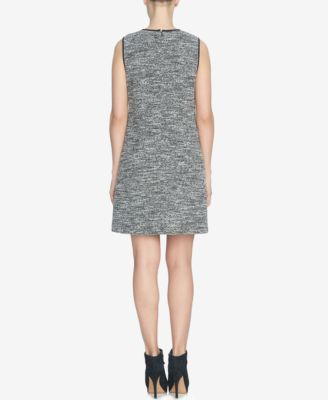 CeCe Sleeveless Tweed Shift Dress