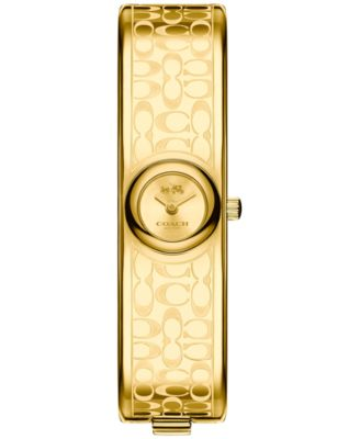 COACH Women's Scout Gold-Tone Bangle Bracelet Watch 16mm 14502625