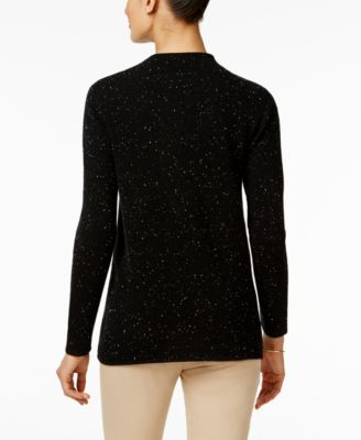 Charter Club Cashmere Donegal Sweater