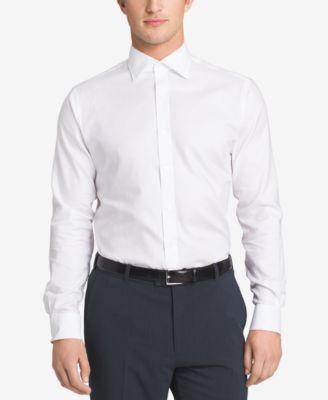 Sean John Mens Solid Classic-Fit Dress Shirt