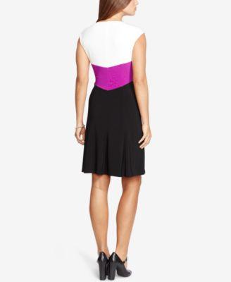 American Living Colorblocked Jersey Dress