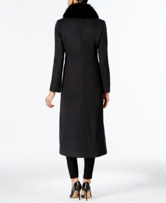 Forecaster Fox-Fur-Trim Wool-Blend Maxi Coat