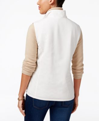 Karen Scott Reversible Fleece Vest