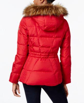 Calvin Klein Petite Faux-Fur-Lined Qui..