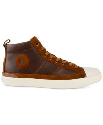 Polo Ralph Lauren Mens Clarke Athletic Hi-Top Sneakers