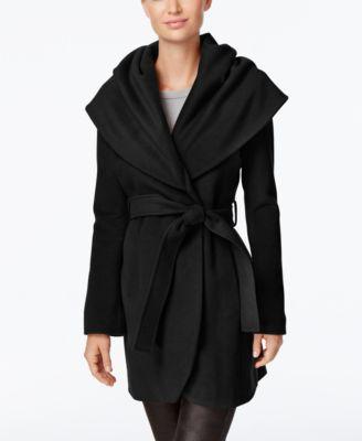 T Tahari Wool-Blend Marla Wrap Coat