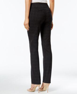 Charter Club Petite Cambridge Plaid Slim-Leg Pants
