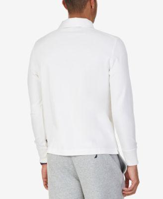 Nautica Mens Slim-Fit Knit Long-Sleeve Polo