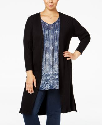Style & Co. Plus Size Rib-Knit Duster Cardigan, Only at Macy's