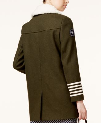 TOMMYXGIGI Shearling-Collar Military Peacoat