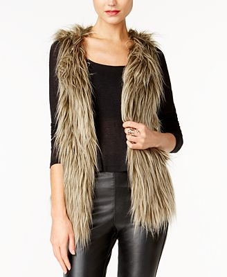 Find the Best in Faux Fur Accessories; Macy's Guess Vest