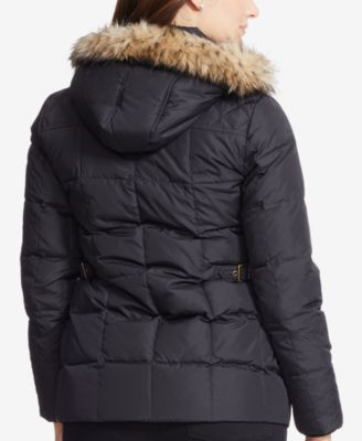 Lauren Ralph Lauren Plus Size Faux-Fur-Trim Quilted Toggle Coat