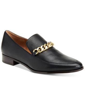 Calvin Klein Womens Fanna Chain Loafers