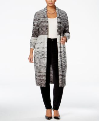 Style & Co. Plus Size Space-Dyed Duster Cardigan, Only at Macy's