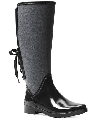MICHAEL Michael Kors Larson Back-Tie Rain Boots - Boots ...
