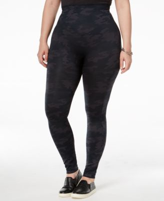 SPANX Plus Size Look At Me Now Camo Leggings