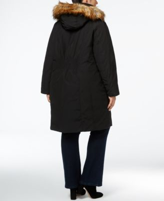 MICHAEL Michael Kors Plus Size Faux-Fur-Trim Puffer Coat