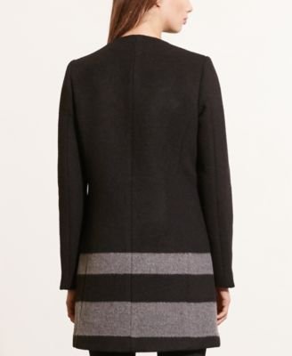 Lauren Ralph Lauren Striped Buckle Coat