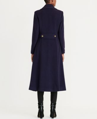 Lauren Ralph Lauren Wool-Cashmere-Blend Military Maxi Coat