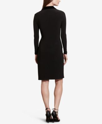 Lauren Ralph Lauren Petite Velvet-Lapel Dress