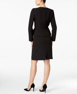 Tahari ASL Petite Zip-Front Skirt Suit