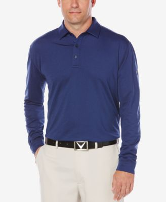 Callaway Mens Long-Sleeved Golf Polo