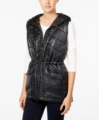 Style & Co. Hooded Quilted Vest