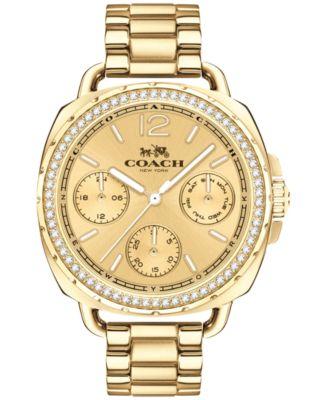 COACH Women's Tatum Gold-Tone Stainless Steel Bracelet Watch 38mm 14502570