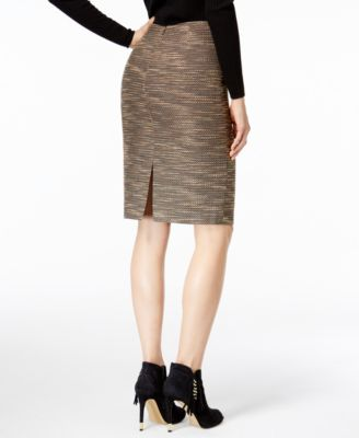 Catherine Malandrino Stacia Tweed Pencil Skirt