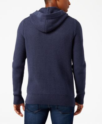 Vince Camuto Mens Hooded Cardigan