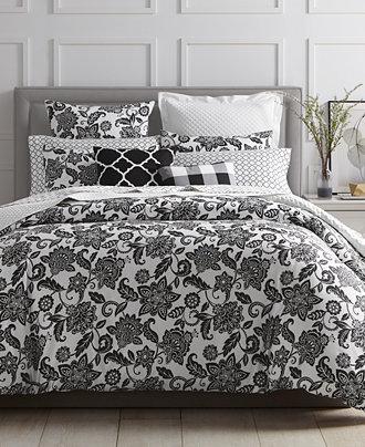 charter club damask designs black floral bedding collection only at macy 39 s bedding. Black Bedroom Furniture Sets. Home Design Ideas