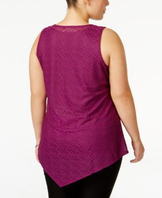 Alfani Plus Size Draped Asymmetrical S..