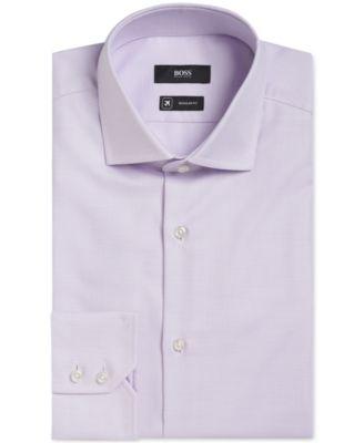 BOSS Mens Slim-Fit Fresh Active Traveler Dress Shirt