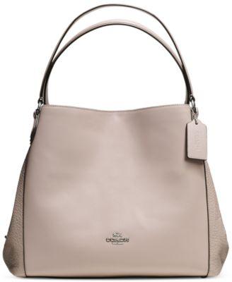 COACH Edie Shoulder Bag 31 in Mixed Materials